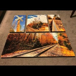 Train Themed Canvas Collage